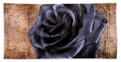 Black Rose Eternal   Bath Towel