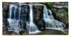 Hand Towel featuring the photograph Black Water Falls by Mark Dodd