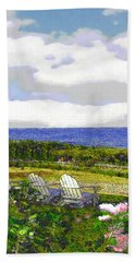 Block Island Sea Chairs Bath Towel