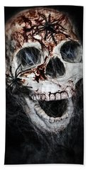 Bloody Skull Hand Towel by Joana Kruse