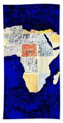 Hand Towel featuring the photograph Blue Africa by Anne Mott