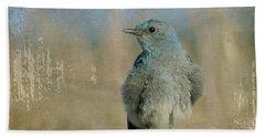 Blue Bird Bath Towel by Teresa Zieba