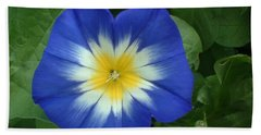 Hand Towel featuring the photograph Blue Burst by Bonfire Photography
