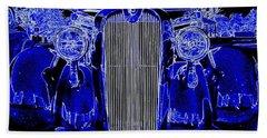 Blue Coupe Bath Towel by J R Seymour