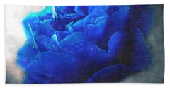 Hand Towel featuring the digital art Blue Rose by Debbie Portwood