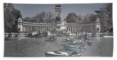 Blue Rowboats Hand Towel