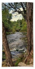 Hand Towel featuring the photograph Blue Spring Branch by Marty Koch