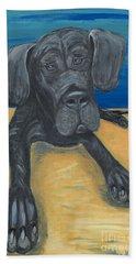 Blue The Great Dane Pup Bath Towel