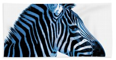 Blue Zebra Art Bath Towel