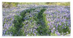 Bluebonnet Trail Bath Towel by Donna  Smith