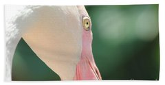 Hand Towel featuring the photograph Blushing Flamingo by Nola Lee Kelsey