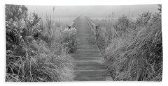 Boardwalk In Quogue Wildlife Preserve Bath Towel