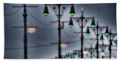 Hand Towel featuring the photograph Boardwalk Lights by Chris Lord