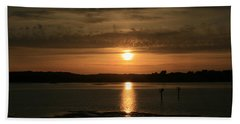 Bodega Bay Sunset II Bath Towel