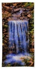 Bath Towel featuring the digital art Botanical Garden Falls by Lynne Jenkins