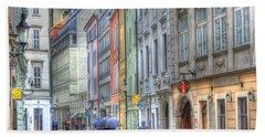 Bratislava Rainy Day In Old Town Bath Towel
