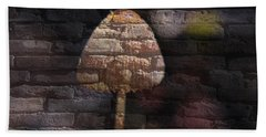 Brick Mushroom Hand Towel by Eric Liller
