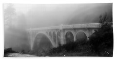 Bridge In Fog Bath Towel