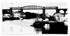 Hand Towel featuring the photograph Bridge On The Boyne by Charlie and Norma Brock