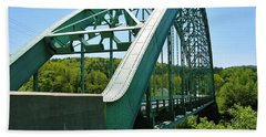 Bath Towel featuring the photograph Bridge Spanning Connecticut River by Sherman Perry
