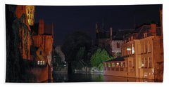 Hand Towel featuring the photograph Bruges by David Gleeson