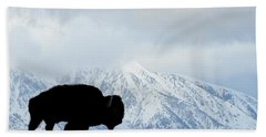 Hand Towel featuring the photograph Buffalo Suvived Another Yellowstone Winter by Dan Friend