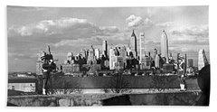 Buglers On Governors Island Hand Towel