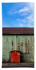 Hand Towel featuring the photograph Building Series - Red Shack by Kathleen Grace