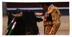Bullfight Madrid Bath Towel