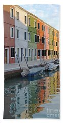 Bath Towel featuring the photograph Burano Canal by Rebecca Margraf