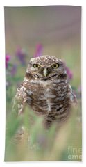 Burrowing Owl Hand Towel by Doug Herr
