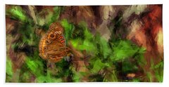 Hand Towel featuring the photograph Butterfly Camouflage by Dan Friend