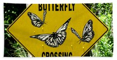 Butterfly Crossing Hand Towel