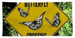 Butterfly Crossing Bath Towel