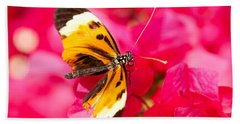 Hand Towel featuring the photograph Butterfly by Les Palenik