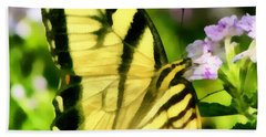 Butterfly Hand Towel by Lynne Jenkins