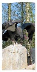California Condor Bath Towel by Carla Parris