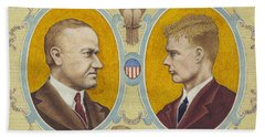 Calvin Coolidge And Charles Lindbergh Bath Towel