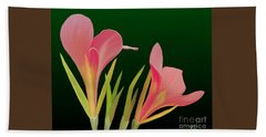 Hand Towel featuring the painting Canna Lilly Whimsy by Rand Herron