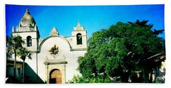 Hand Towel featuring the photograph Carmel Mission by Nina Prommer
