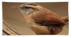 Bath Towel featuring the photograph Carolina Wren by Daniel Reed