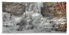 Cascades In Winter 1 Bath Towel by Dan Stone