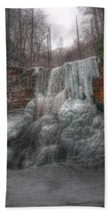 Cascades In Winter 3 Bath Towel by Dan Stone