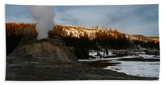 Castle Geyser Yellowstone National Park Bath Towel