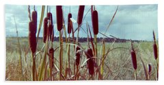 Bath Towel featuring the photograph Cat Tails by Bonfire Photography