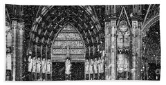 Bath Towel featuring the photograph Cathedral In The Snow Panorama by Andy Prendy