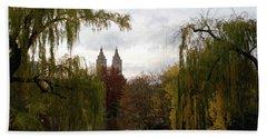 Central Park Autumn Bath Towel