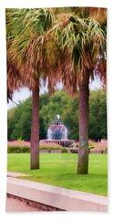 Charleston Pineapple Fountain Hand Towel