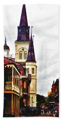Chartres Street - New Orleans Bath Towel