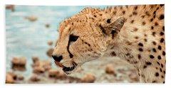 Cheetah Headshot Hand Towel by Darcy Michaelchuk